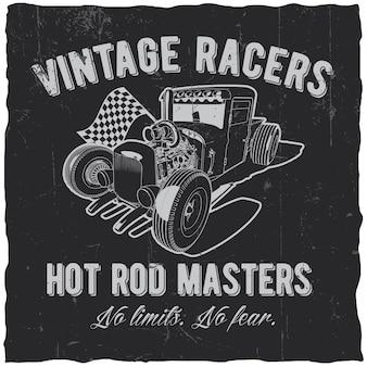 Étiquette vintage racers