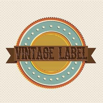 Étiquette vintage