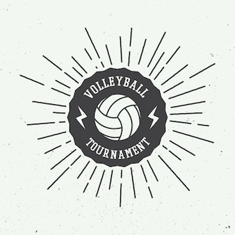 Étiquette de volleyball