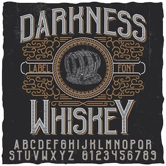 Étiquette de whisky darkness