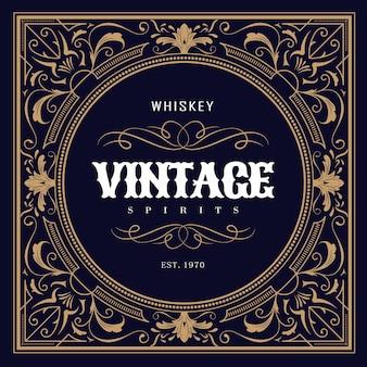 Étiquette de whisky design vintage