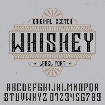 Étiquette de whisky originale