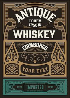 étiquette de whisky pour l'emballage