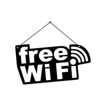Étiquette wifi gratuite
