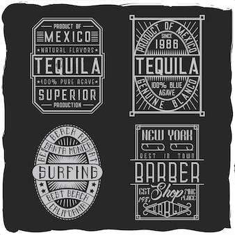 Étiquettes d'alcool