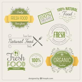 Les étiquettes des aliments organiques