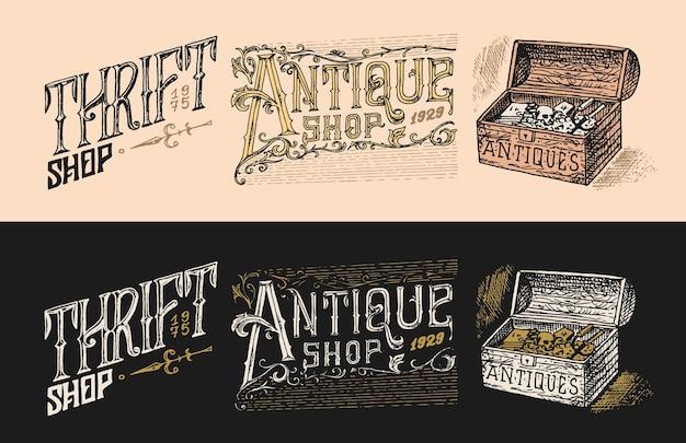 Étiquettes ou badges d'antiquités