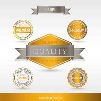 Les étiquettes et les badges de primes or