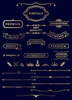 Étiquettes et bannières vintage