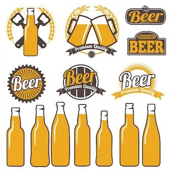 Étiquettes de bière colorés