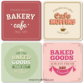 Étiquettes de boulangerie dans le style vintage