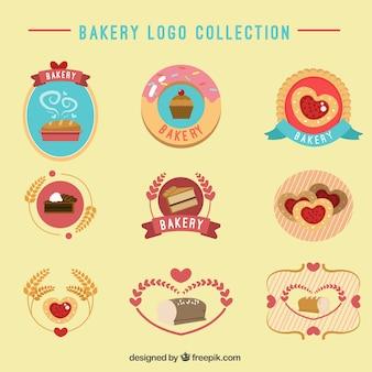 Étiquettes de boulangerie mignons serti de nourriture délicieuse