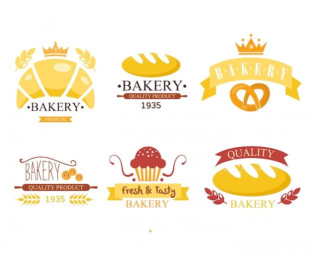 Étiquettes de boulangerie vintage