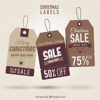 Étiquettes brown christmas