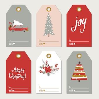 Étiquettes de cadeau de noël.