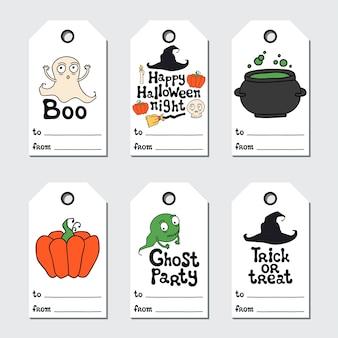 Etiquettes cadeaux halloween
