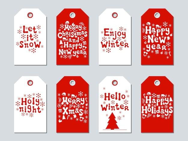 Etiquettes cadeaux noël et nouvel an