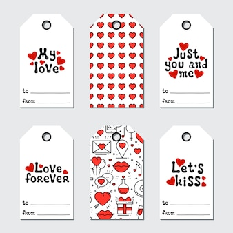 Etiquettes cadeaux st valentin