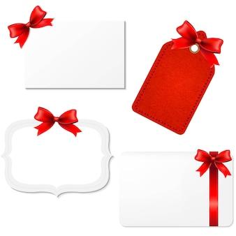 Étiquettes-cadeaux vierges avec filet dégradé