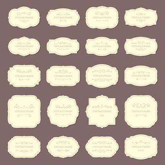 Étiquettes de cadre vintage