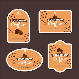 Étiquettes de café infusé à froid