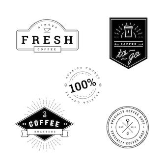 Étiquettes de café noir