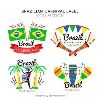 Étiquettes de carnaval brésilien