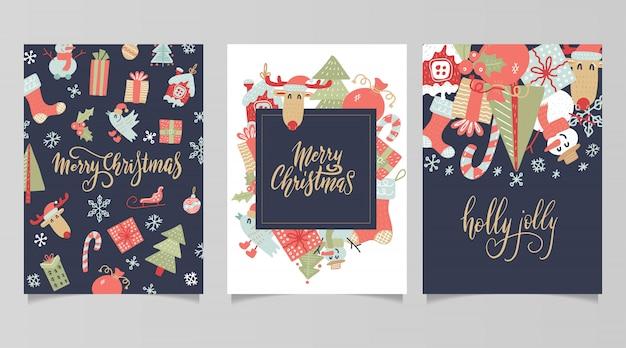 Etiquettes et cartes de cadeaux de noël