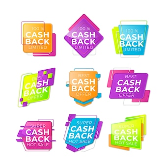 Étiquettes de cashback avec offre limitée