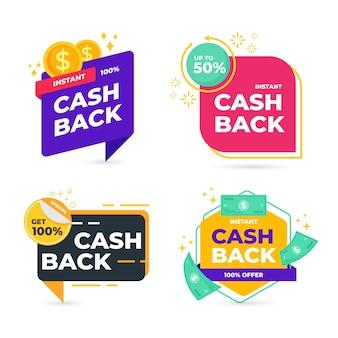 Étiquettes de cashback