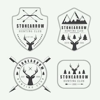 Étiquettes de chasse, insignes