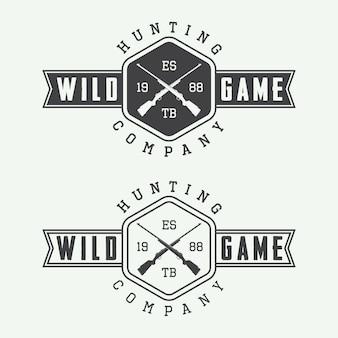 Étiquettes de chasse