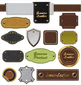 Étiquettes en cuir