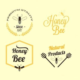 étiquettes d'abeilles Miel