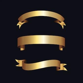 Étiquettes dorées avec cadre doré sur beige