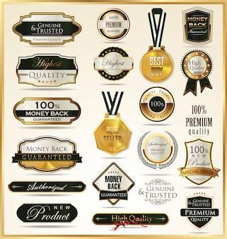 Étiquettes dorées de luxe