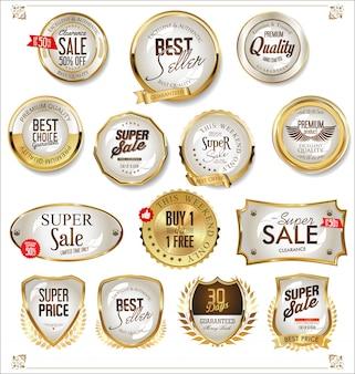 Étiquettes dorées
