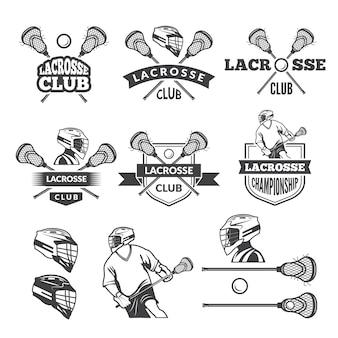 Les étiquettes du club de crosse.