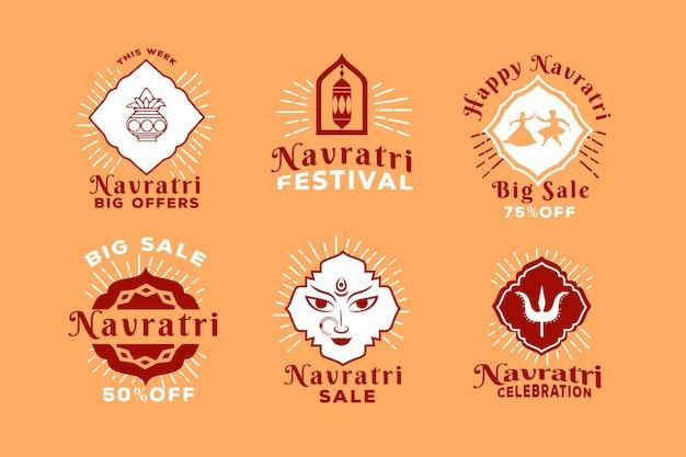 Étiquettes du festival navratri