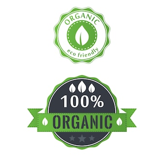 Étiquettes écologiques dans un style rétro vintage, illustration vectorielle