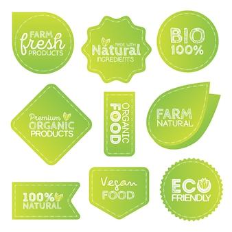 Étiquettes écologiques écologiques