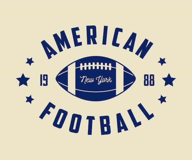 Étiquettes, emblèmes et logo vintage de rugby et de football américain.