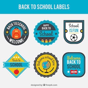 Étiquettes fantastiques pour retourner à l'école