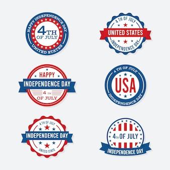 Étiquettes de la fête de l'indépendance