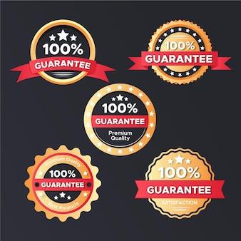 Étiquettes de garantie à cent pour cent