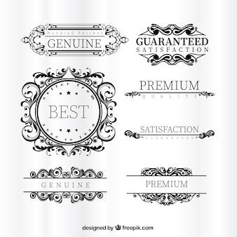 Étiquettes haut de gamme ornementales
