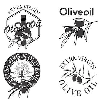 Étiquettes d'huile d'olive extra vierge.