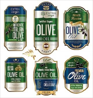 Les étiquettes d'huile d'olive