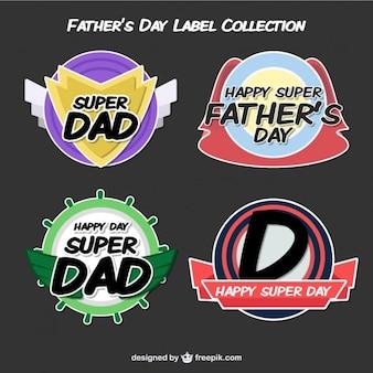 Les étiquettes de jour de modern père
