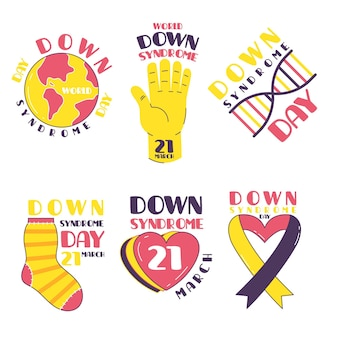 Étiquettes de la journée mondiale de la trisomie 21